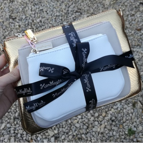 3 bag gift set - Gold and cream