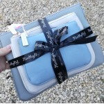 3 bag gift set - Grey and pastel blue