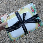 3 bag gift set - Yellow/Tropical