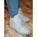 Sparkle Hi-Top Trainers - White