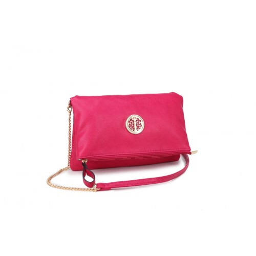 Willow chain clutch Hot pink