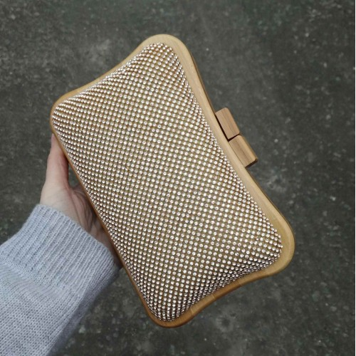 Crystal clutch - Champagne gold