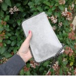 Ella mini clutch - light grey