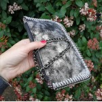 Ella mini clutch - black/silver