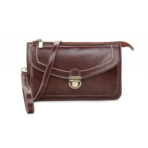 Katie Satchel Clutch - Coffee