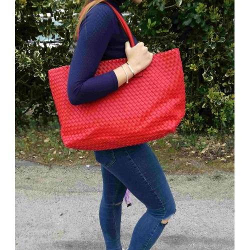 Weave Bag - Red/Red