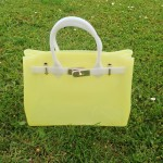 Tiffany Jelly Silicon Beach Bag yellow