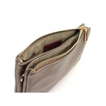 Bella clutch - Metallic pewter
