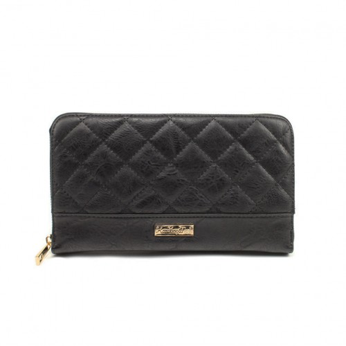 Organiser quilted purse - black