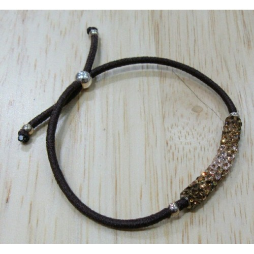 Elastic Crystal Bracelet - Coffee & Brown Fade