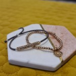 Rose gold stack bracelets - solid silver