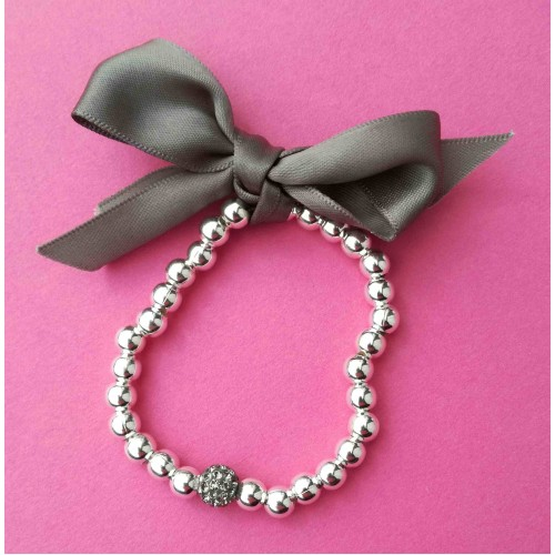 1 ball bead bracelet - Grey