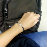 Infinity bracelet - Black with silver