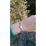 Crystal bracelet - grey and clear crystal