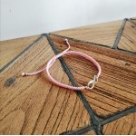 Infinity bracelet - Baby pink with silver