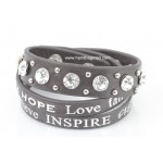 Inspirational Wrap Bracelet - Coffee