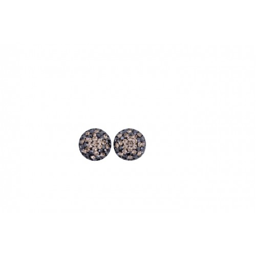 12mm sterling silver half ball studs in haematite faded to rose gold