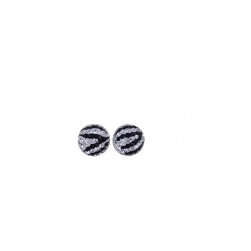 12mm half ball studs in zebra white and black