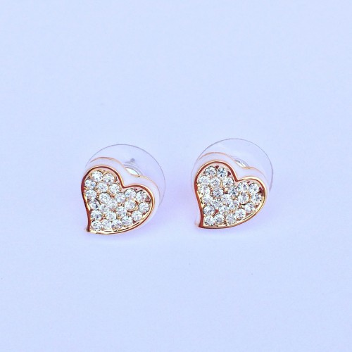 Valentina Heart Earrings - White