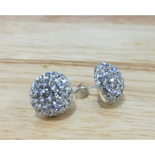 10mm half ball studs in silver