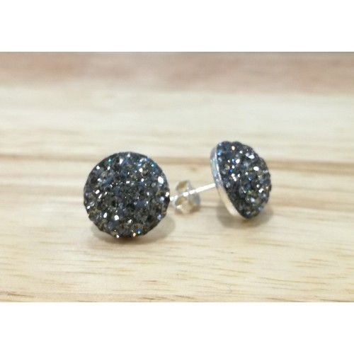 10mm half ball studs in black diamond (grey)