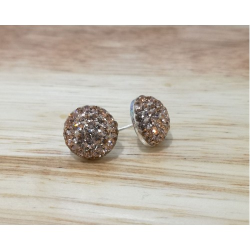 10mm half ball studs in rose gold