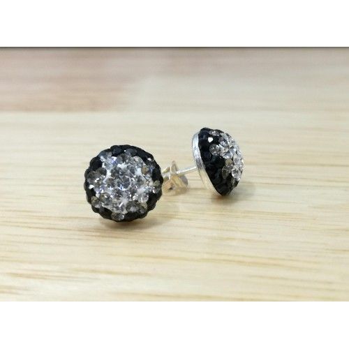 10mm half ball studs fade black to silver