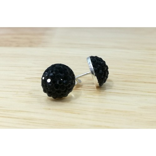 10mm half ball studs in Jet Black