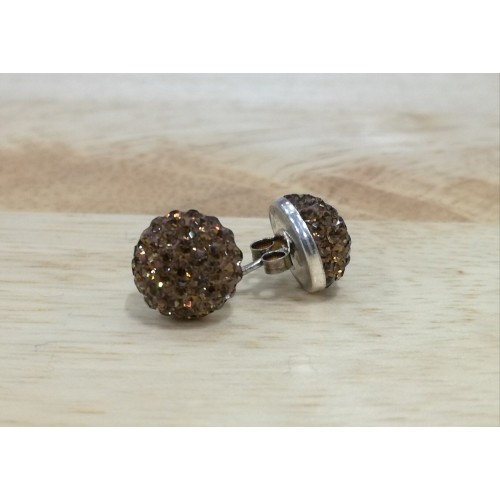 10mm half ball studs in brown