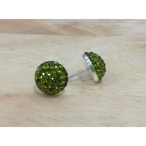 10mm half ball studs in green