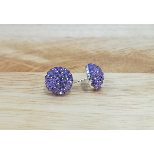 10mm half ball studs in light purple