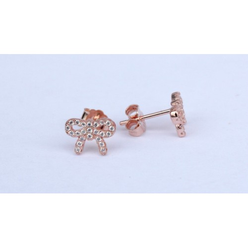 Bow studs - rose gold