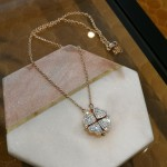 4 heart necklace - rose gold