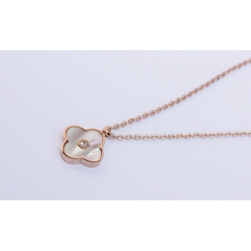 cross and diamante rose gold necklace necklaces