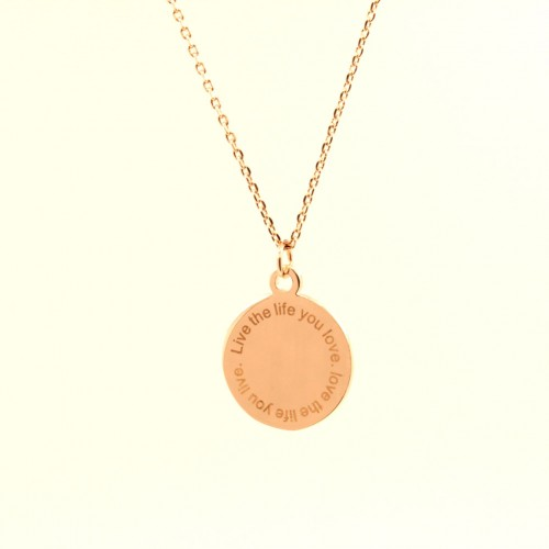 Circle necklace - rose gold