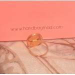 Bibi Italian crystal love ring - rose gold
