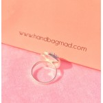 Bibi Italian crystal love ring - silver
