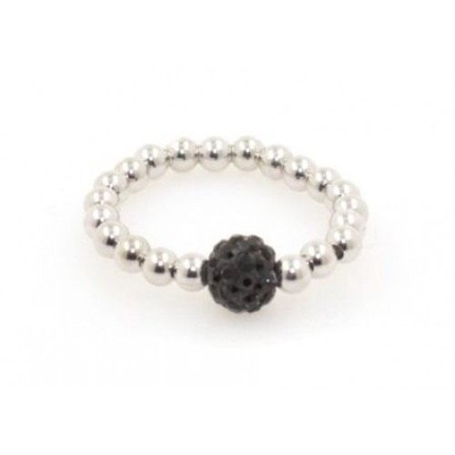 Bead Ring - Jet Black