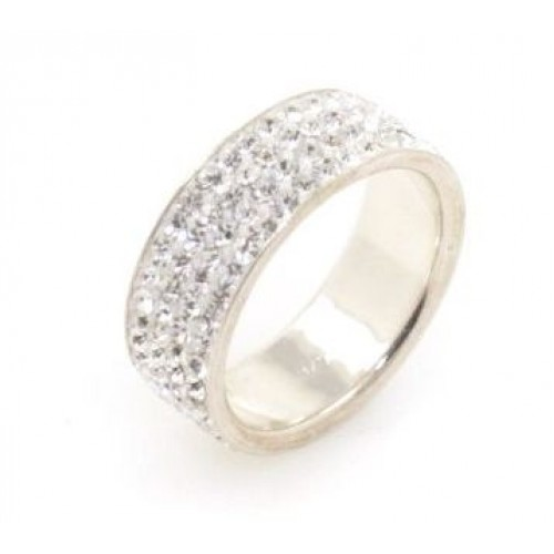 Milan 4 row ring - White