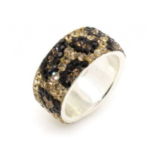 Luxor Leopard 5 row ring - Brown