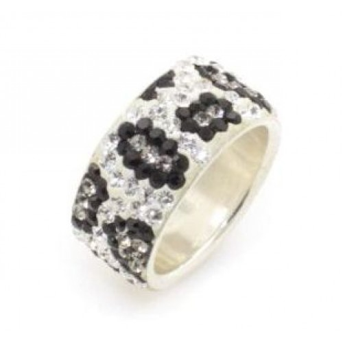 Luxor Leopard 5 row ring - Silver