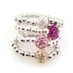 Bead Ring Set - Light Pink