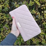 Organiser quilted purse - light pink