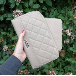 Organiser quilted purse - taupe