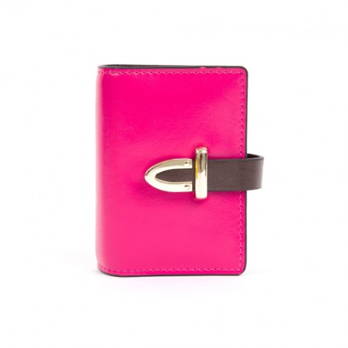 Leather Card Holder - Rose pink