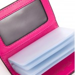 Leather Card Holder - Fuscia