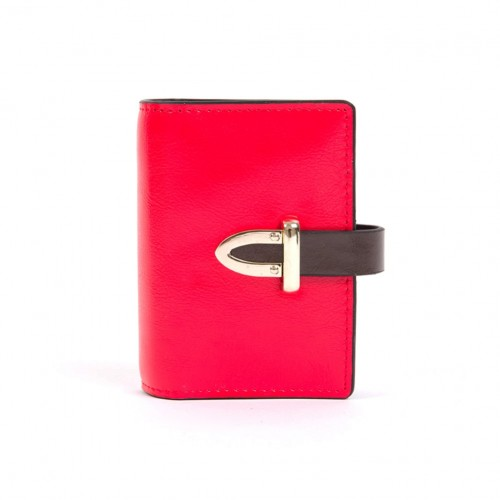 Leather Card Holder - Red