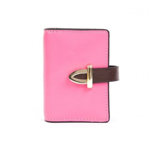 Leather Card Holder - Baby Pink