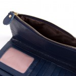 Selina Real Leather Bow Purse Navy Blue