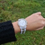 Array white and silver watch
